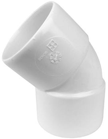 WAVIN WADAL PVC L-BCHT 45GR 50MM M/M WIT