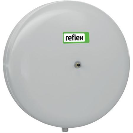 Reflex C membraandrukexpansievat, diameter 356mm, hoogte 370mm, inhoud 18L, voordruk 1bar, einddruk 3bar, gebruik duurzame energiebron, nom. binnendiameter expansie-aanslu 3/4