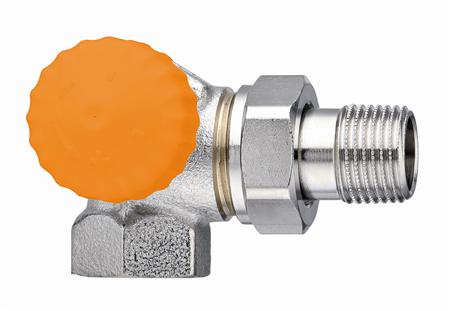 Heimeier Eclipse radiatorafsluiter, maat leidingaansluiting 1/2