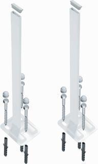Rofix radiatorstandconsole, wit, hoogte 700mm, geschikt voor radiatorhoogte 600mm, geschikt voor tussen de panelen, geschikt voor paneelradiator, geschikt voor lasstrip, geschikt voor ledenradiator, radiatorbevestiging D.m.v. te bestellen sets, RAL-nummer RAL 9016, geschikt voor vensterbanksteunen,Bekijk alle warmte afgifte