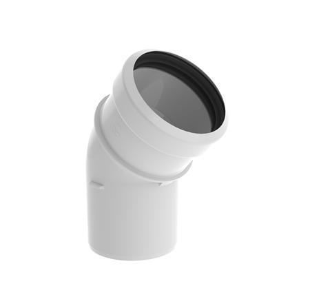 Burgerhout Safe-PP enkelw. rookgashulpstuk 2 aansl., kunststof, wit, lengte 0 - 170mm, bocht, buitendiameter aansluiting 1 80mm, buitendiameter aansluiting 2 80mm, wet (condenserend), max. mediumtemperatuur (continu) 120C, bochtuitvoering gladde bocht, met lipring,Bekijk alle installatiematerialen verwarming