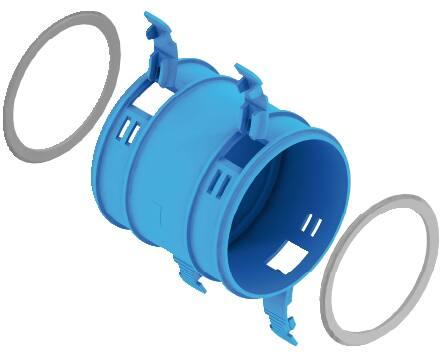 Burgerhout Hybalans Plus verbindingsstuk rond luchtkanaal, kunststof, nom. kanaaldiameter 75mm, hulpstukverbinding, buisverbinding, met voorgemonteerde afdichting, werkende lengte 20mm, insteeklengte 85mm, koppelstuk twee kanalen,Bekijk alle ventilatie