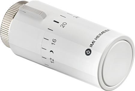 Heimeier Halo radiatorthermostaatknop recht, wit, aansluiting op afsluiter M30x1.5, instelbereik 6 - 28C, blokkering/begrenzing instelbereik, geschikt voor ventielcompactradiato, RAL-nummer 9016, regelelement vloeistofgevuld, vorstbeveiligd,Bekijk alle warmte afgifteBekijk alle radiatoren en convectoren