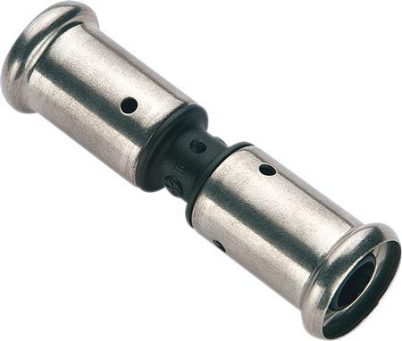 Henco 15PK fitting met 2 aansluitingen 1-delig, lengte 73.5mm, recht, uitwendige buisdiameter aansluiting 16mm, aansluiting 1 polyvinylidenefluoride (P, uitwendige buisdiameter aansluiting 16mm, aansluiting 1 persmof, nom. diameter aansluiting 1 DN 8, nom. diameter aansluiting 2 DN 8,Bekijk alle buis en fittingenBekijk alle fittingen met 2 aansluitingen