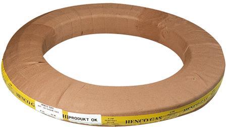 Henco meerlagenbuis glad, uitwendige buisdiameter 20mm, wanddikte 2mm, met mantelbuis, nom. binnendiameter DN 15, handelslengte 50m, buis geel, gastec QA, mantel geel, uitwendige diameter mantelbuis 30.75mm, flexibel, max. mediumtemperatuur (continu) 60C, kwaliteitsklasse buitenlaag PEHD-Xc,
