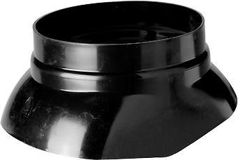Ubbink 214 kunststof glijschaal dakdoorvoerpan, zwart, uitvoering glijschaal standaard, systeemdiameter 186mm, dakhelling 5 - 55,Bekijk alle installatiemateriaal verwarming