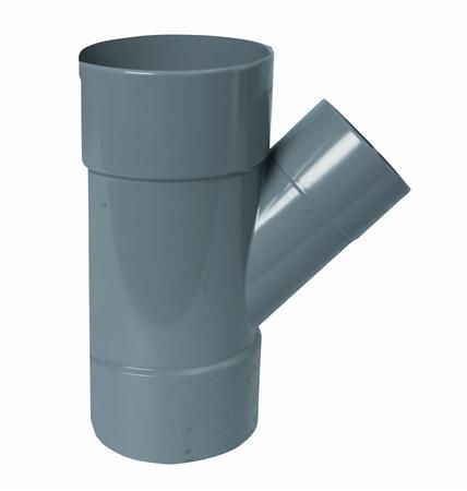 PVC T-STUK 75-40-75 45GR