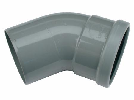 PVC BOCHT 125 45GR 1XMANCH