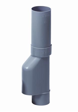 WAVIN PVC BLADAFSCHEIDER 80MM GRIJS