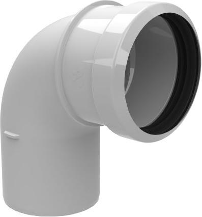 Burgerhout Safe-PP enkelw. rookgashulpstuk 2 aansl., kunststof, wit, lengte 0 - 162mm, bocht, buitendiameter aansluiting 1 80mm, buitendiameter aansluiting 2 80mm, wet (condenserend), max. mediumtemperatuur (continu) 120C, bochtuitvoering gladde bocht, met lipring,Bekijk alle installatiemateriaal verwarming