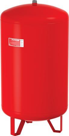 Flamco Flexcon membraandrukexpansievat, rood, diameter 484mm, hoogte 784mm, inhoud 110L, voordruk 1bar, op voet verticaal, einddruk 6bar, nom. binnendiameter expansie-aanslu 1