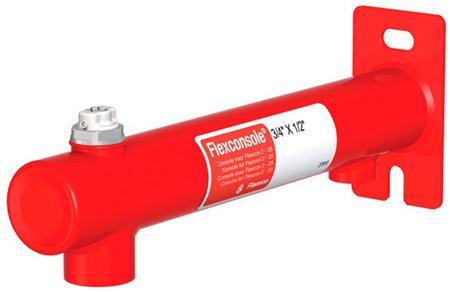 Flamco Flexcon drukexpansievatconsole, rood, vatgrootte 2 - 25L, aansluiting CV zijde binnendraad gas cilindris, maat aansluiting CV zijde 1/2