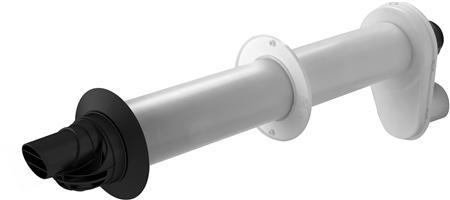 Ubbink Rolux 5H rookgasmuurdoorvoer, max. mediumtemperatuur (continu) 120C, systeemtype parallel, totale lengte 800mm, diameter parallel systeem 80 / 80mm, wet (condenserend), uitmondingsconstructie 1-pijps, luchttoevoerbuis kunststof, rookgasbuis kunststof, IJspegel/ijsvormingsvrij,Bekijk alle installatiematerialen verwarming
