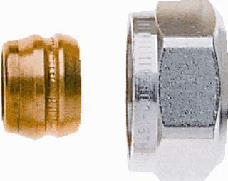 Heimeier 3831 knelringset, uitwendige buisdiameter 15mm, diameter 3/4