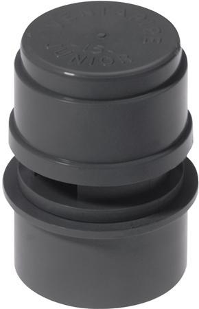 Mcalpine Ventapipe Jr. beluchter, uitwendige buisdiameter 32 - 40mm, huis kunststof, aansluiting 1 lijm/wartelmoer, oppervlaktebescherming geen (onbehandeld)Voor beluchting vanéén lozingtoestel.