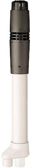 Ubbink Rolux 5G rookgasdakdoorvoer, max. mediumtemperatuur (continu) 120C, systeemtype parallel, binnendiameter bovendaks deel 80mm, diameter parallel systeem 80 / 80mm, rookgasbuis kunststof, luchttoevoerbuis kunststof, totale lengte 1281mm, lengte bovendaks 565mm, wet (condenserend),