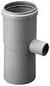 Burgerhout/m&G PP enkelw. rookgashulpstuk 2 aansl., kunststof, grijs, condensafvoer, buitendiameter aansluiting 1 80mm, buitendiameter aansluiting 2 80mm, wet (condenserend), max. mediumtemperatuur (continu) 120C, gastec QA, met lipring, kwaliteitsklasse polypropyleen (PP),