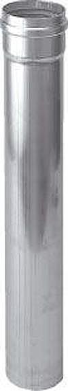 Burgerhout/m&G Alu-fix enkelwandige rga of ltv buis, aluminium, grijs, lengte 1000mm, wanddikte 1.5mm, buitendiameter 130mm, max. mediumtemperatuur (continu) 200C, wet (condenserend), kwaliteitsklasse alMgSi 0.5 (3.3206), buitendiameter aansluiting 1 130mm, gastec QA, werkende lengte 950mm,