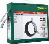 Walraven BIS Pacifyre EFC brandmanchet op rol. Afroldoos met 10 meter brandwerend band, 3 meter RVS band en toebehoren.